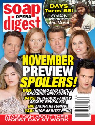 Soap Opera Digest 9th November 2020