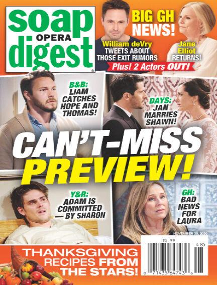 Soap Opera Digest November 21, 2020 00:00