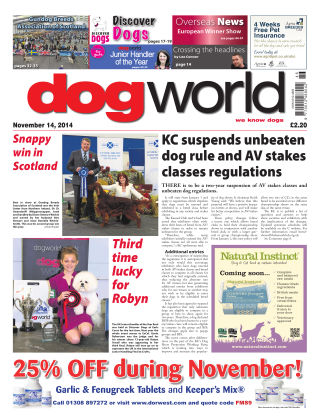 Dog World 14th November 2014