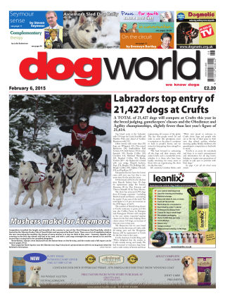 Dog World 6th February 2015