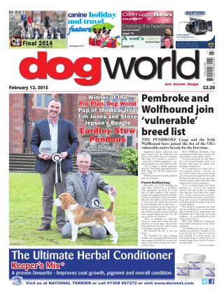 Dog World 13th February 2015