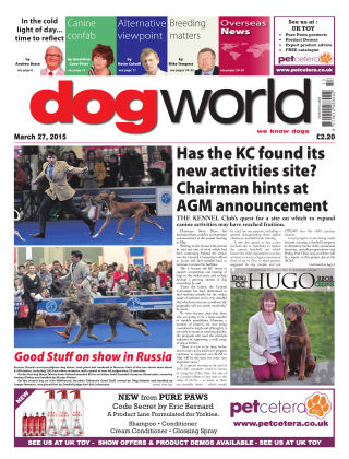 Dog World 27th March 2015