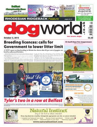 Dog World 2nd October 2015