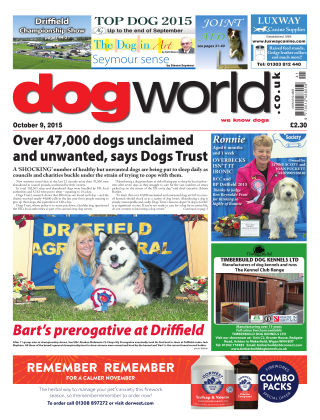 Dog World 9th October 2015