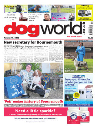 Dog World 19th August 2016