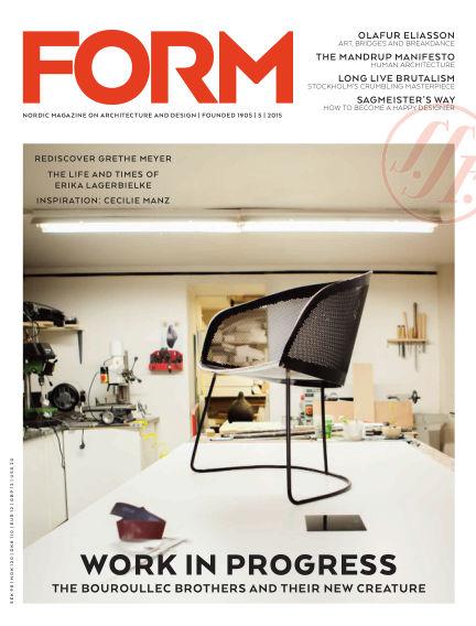 FORM Magazine October 13, 2015 00:00
