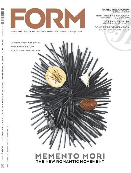 FORM Magazine October 11, 2016 00:00