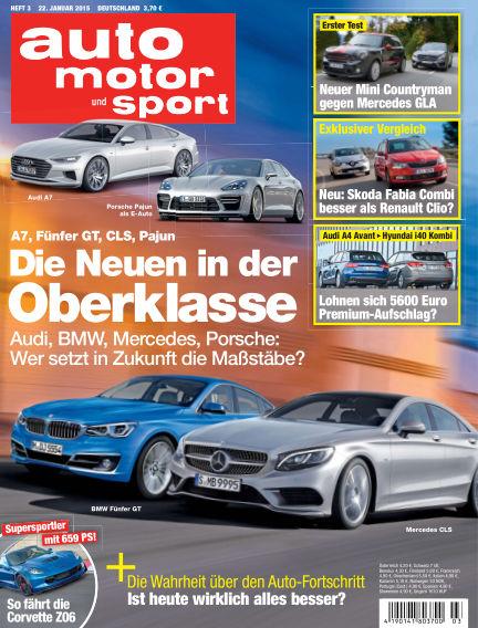 auto motor und sport January 22, 2015 00:00