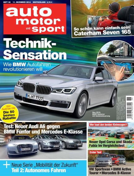 auto motor und sport December 11, 2014 00:00