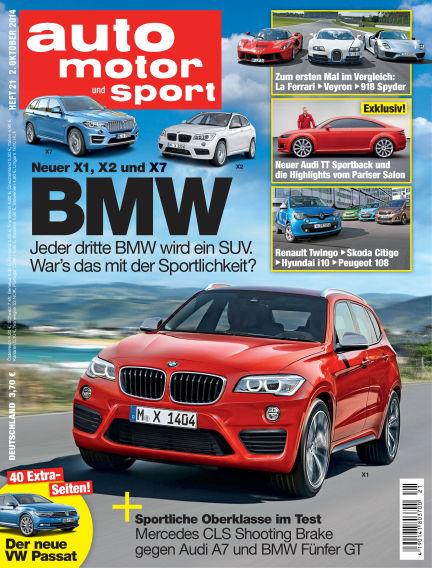 auto motor und sport October 02, 2014 00:00