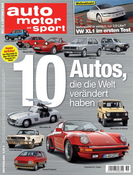 auto motor und sport September 04, 2014 00:00
