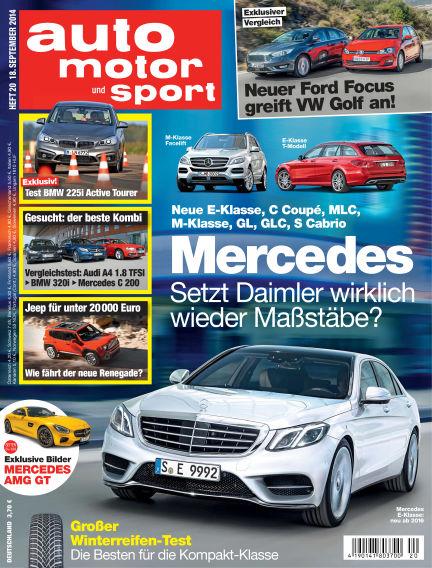 auto motor und sport September 18, 2014 00:00