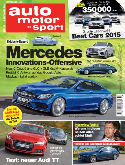 auto motor und sport November 13, 2014 00:00