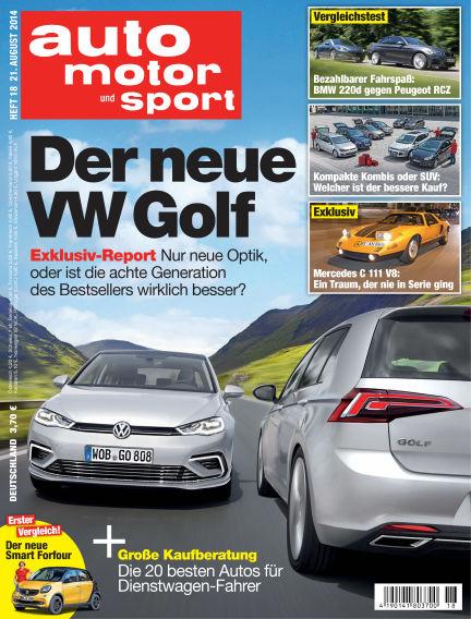 auto motor und sport August 21, 2014 00:00