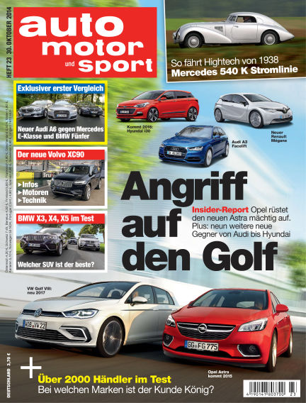 auto motor und sport October 30, 2014 00:00