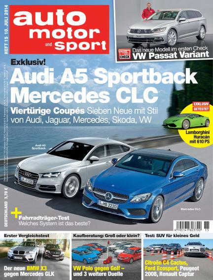 auto motor und sport July 10, 2014 00:00