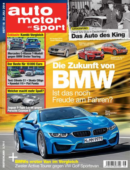 auto motor und sport July 24, 2014 00:00