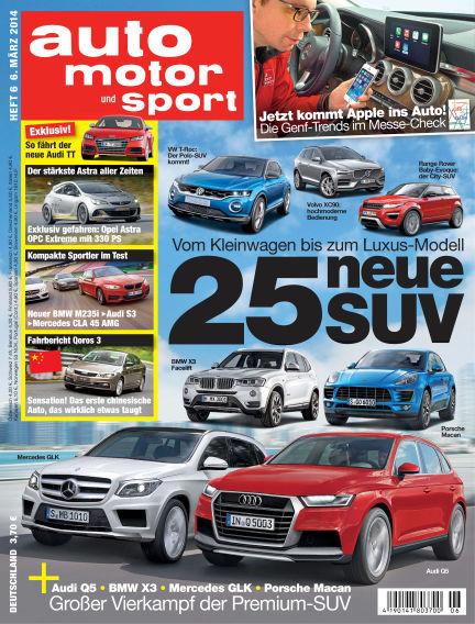 auto motor und sport March 06, 2014 00:00