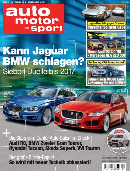 auto motor und sport February 19, 2015 00:00