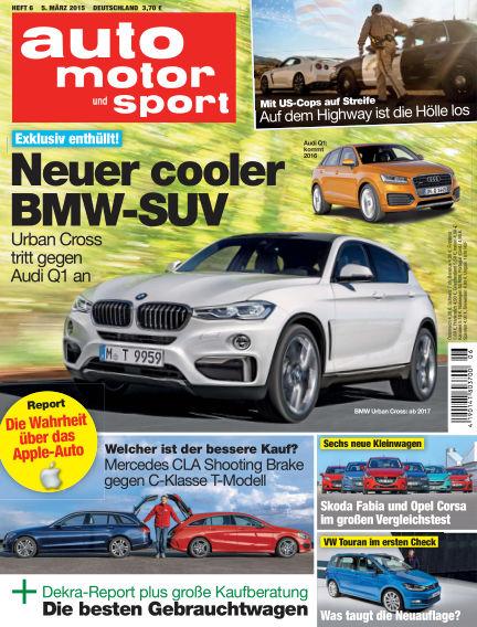 auto motor und sport March 05, 2015 00:00
