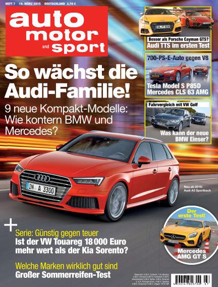 auto motor und sport March 19, 2015 00:00