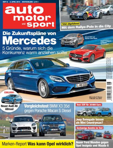 auto motor und sport April 02, 2015 00:00