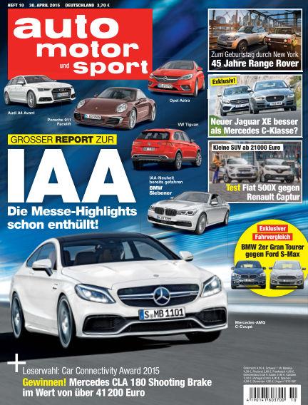 auto motor und sport April 30, 2015 00:00