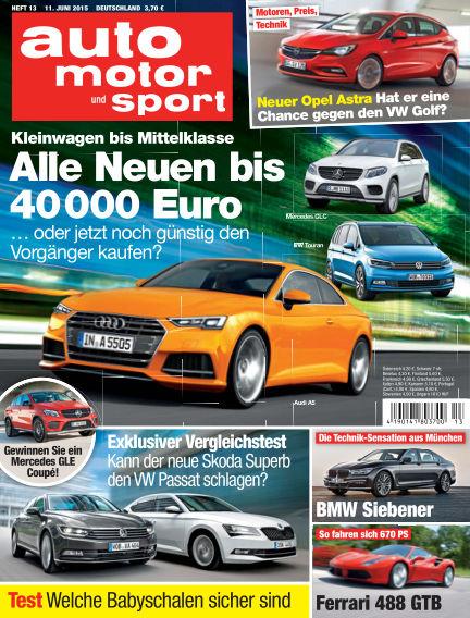 auto motor und sport June 11, 2015 00:00