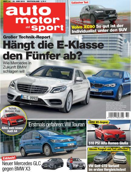 auto motor und sport June 25, 2015 00:00