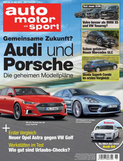 auto motor und sport July 09, 2015 00:00