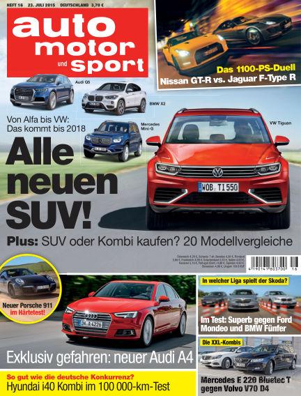 auto motor und sport July 23, 2015 00:00