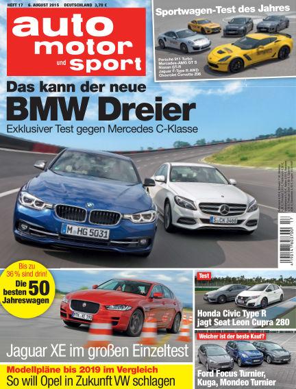 auto motor und sport August 06, 2015 00:00