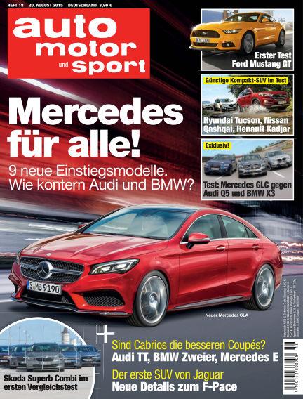 auto motor und sport August 20, 2015 00:00