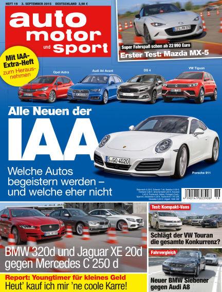 auto motor und sport September 03, 2015 00:00