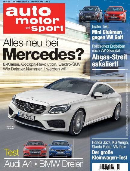 auto motor und sport October 29, 2015 00:00