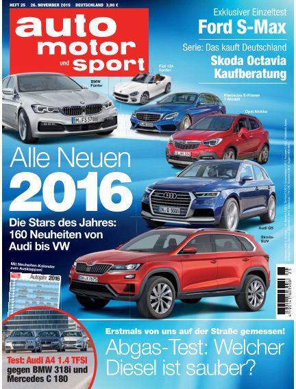 auto motor und sport November 26, 2015 00:00