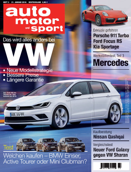 auto motor und sport January 21, 2016 00:00