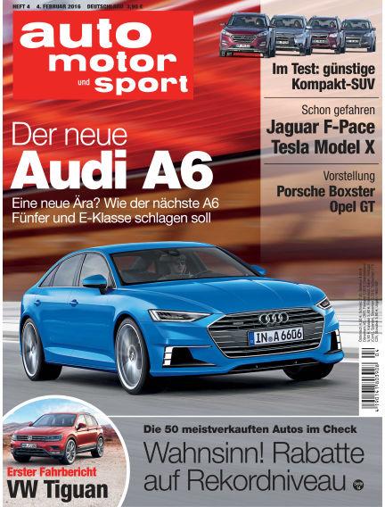 auto motor und sport February 04, 2016 00:00
