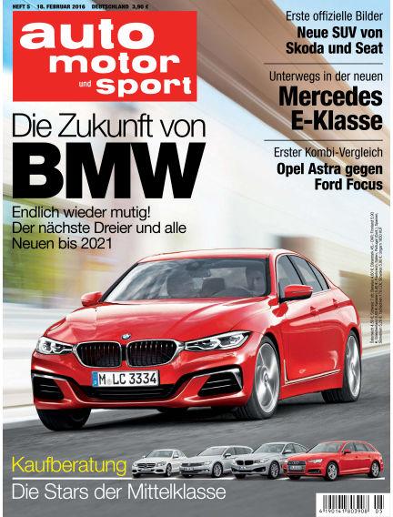 auto motor und sport February 18, 2016 00:00