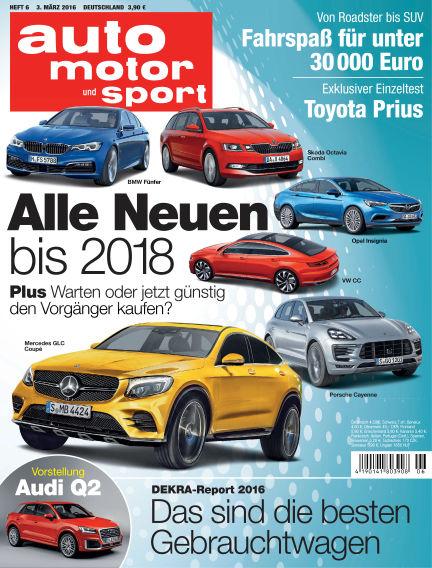 auto motor und sport March 03, 2016 00:00