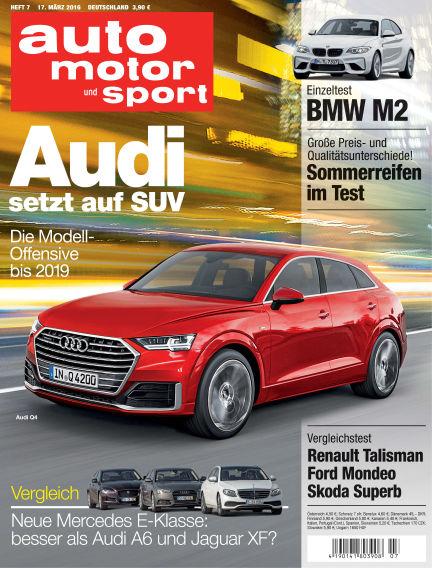 auto motor und sport March 17, 2016 00:00