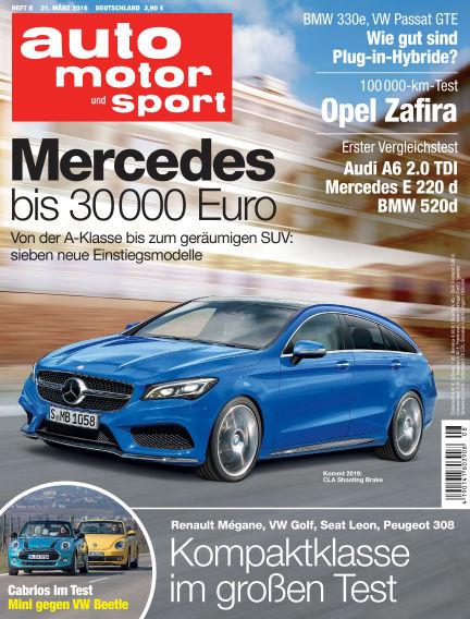 auto motor und sport March 31, 2016 00:00