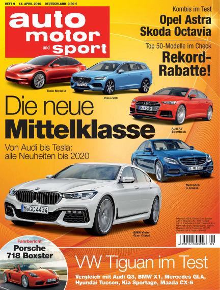 auto motor und sport April 14, 2016 00:00