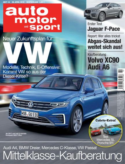 auto motor und sport April 28, 2016 00:00