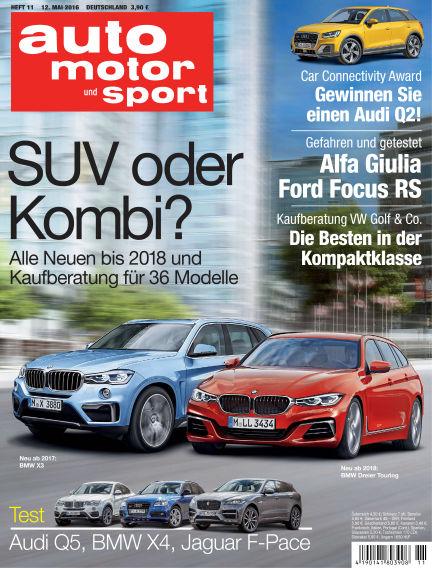 auto motor und sport May 12, 2016 00:00