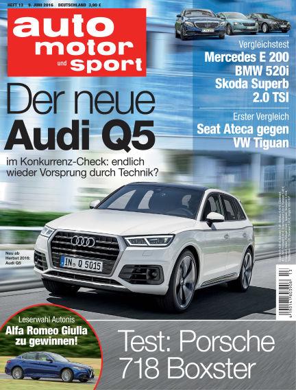 auto motor und sport June 09, 2016 00:00