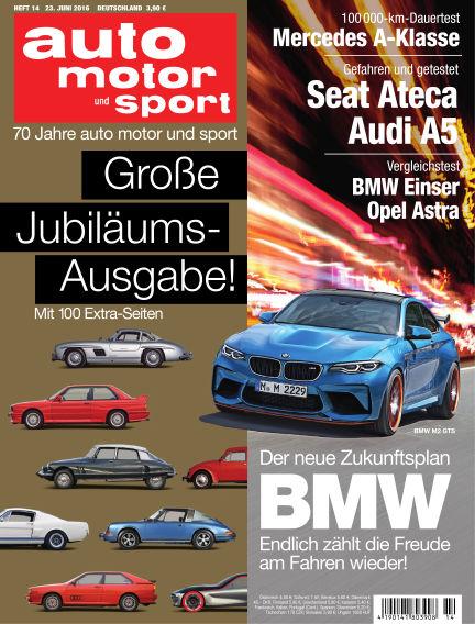 auto motor und sport June 23, 2016 00:00