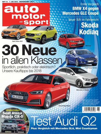 auto motor und sport July 07, 2016 00:00