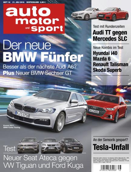 auto motor und sport July 21, 2016 00:00