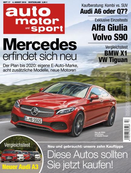 auto motor und sport August 04, 2016 00:00